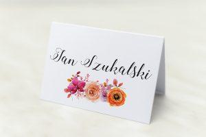 winietka na wesele w kwiaty